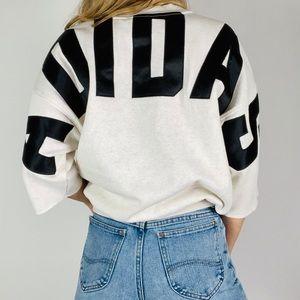 ADIDAS ORIGINALS Crewneck Grey Logo Sweatshirt S